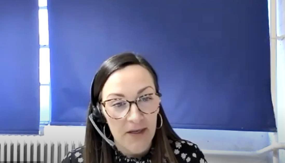 Shonagh talking at Women's Place webinar